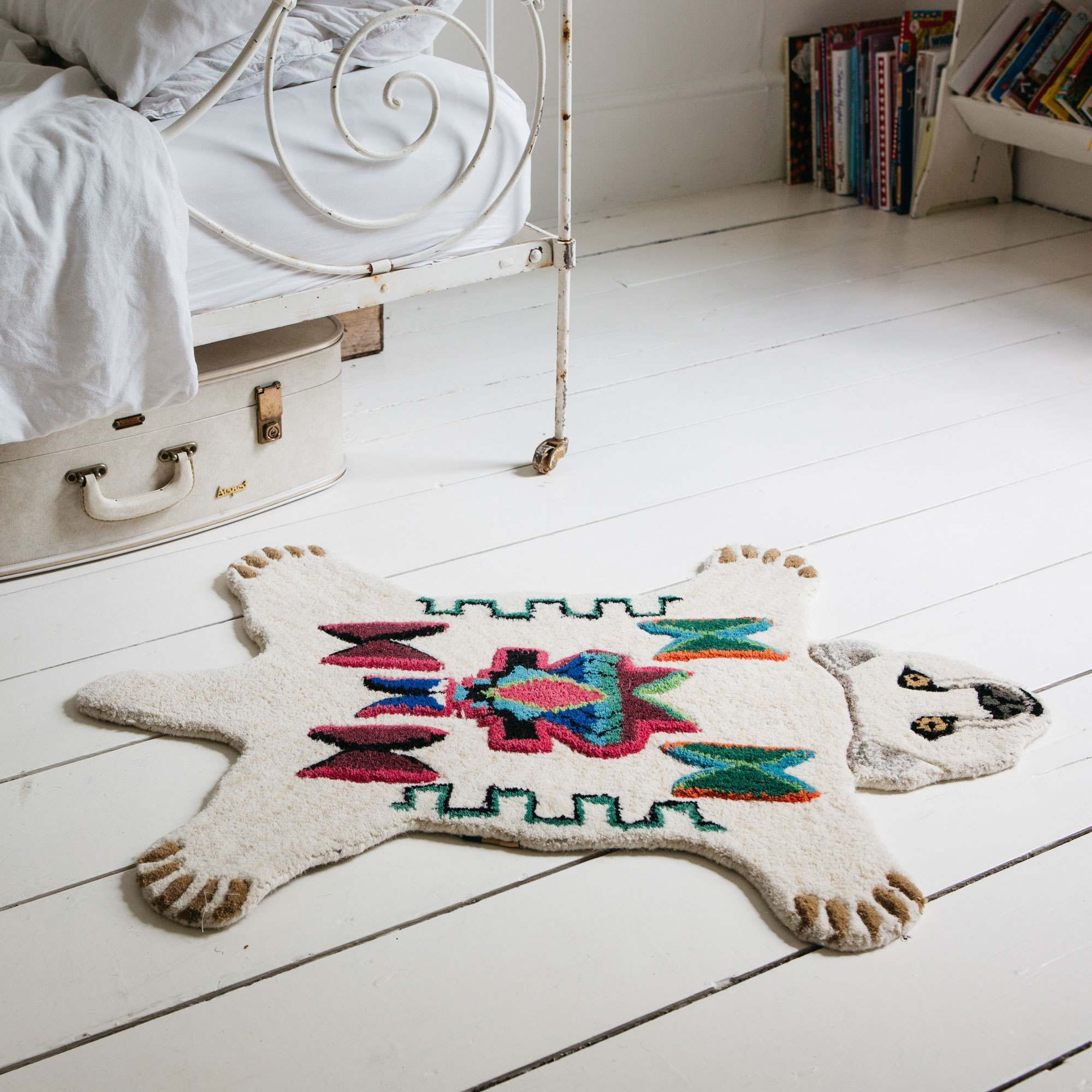Small Aztec Polar Bear Rug #aztec