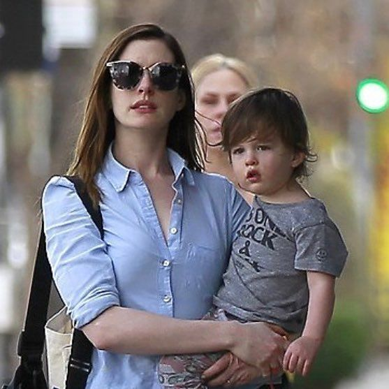Anne Hathaway Running Errands In LA With Her 22-month-old