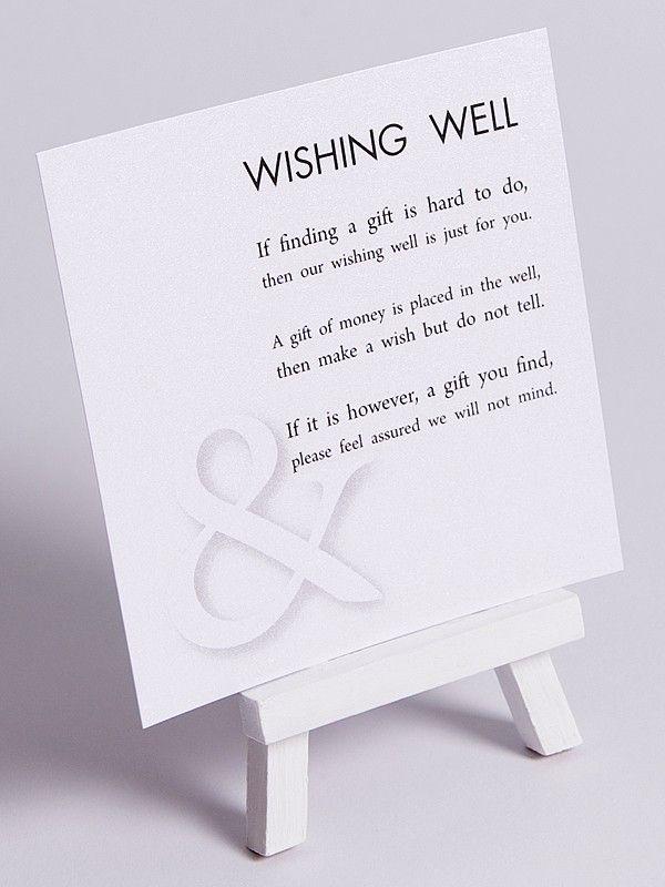 Printable Wedding Wishing Well card Gold Black