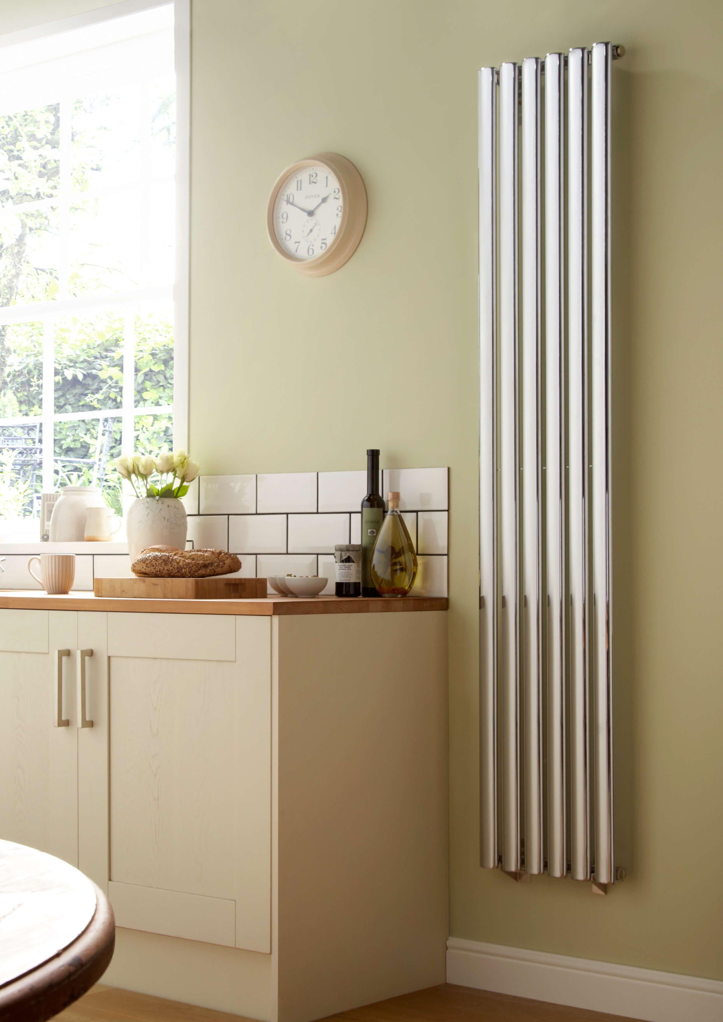 The Designer Radiator Company  Towelrads Dorney Vertical Chrome