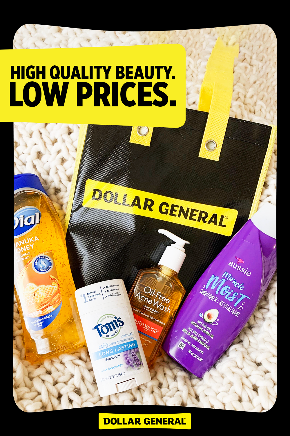 Now at Dollar General, we have beauty essentials like