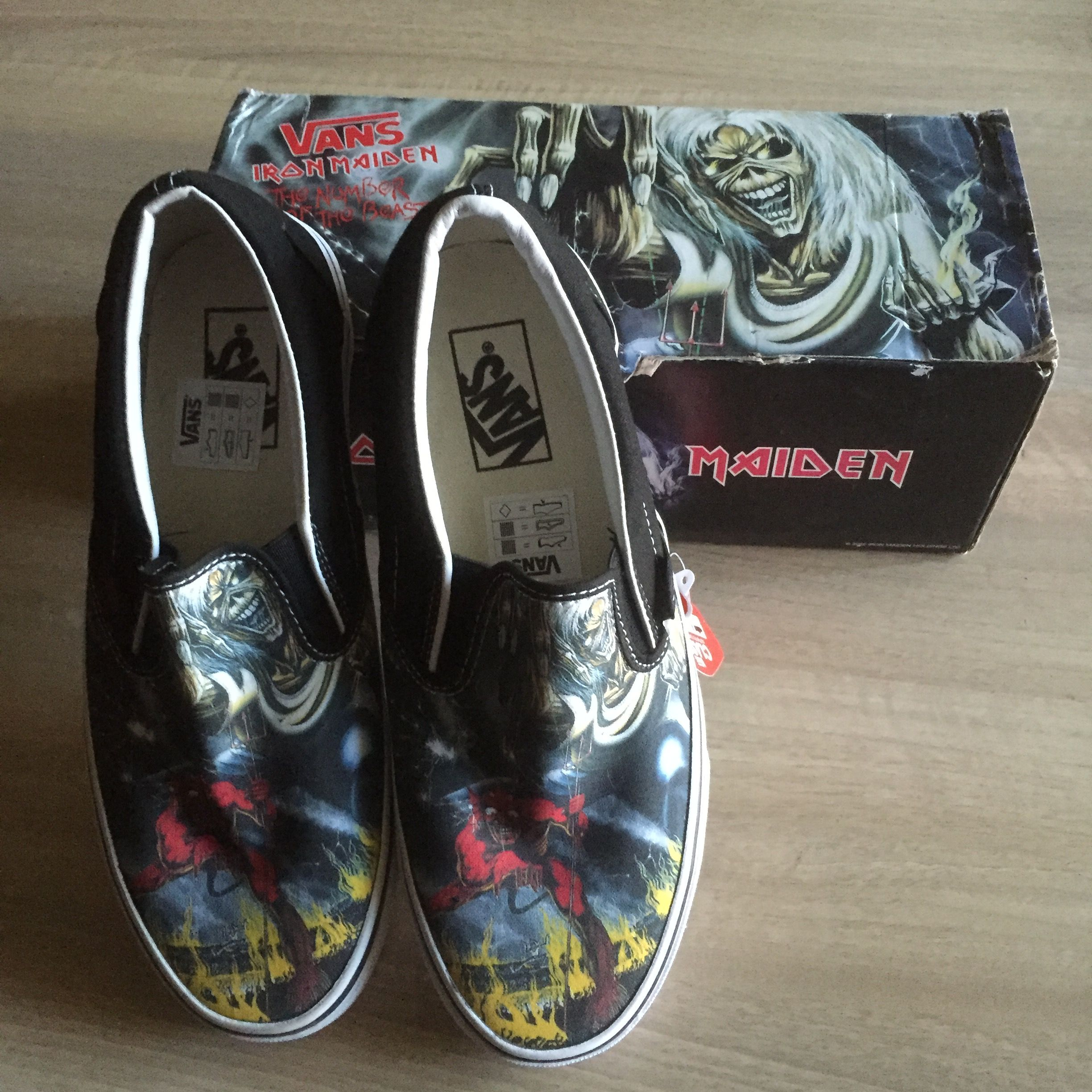 Iron Maiden shoes made by Vans The number of the beast
