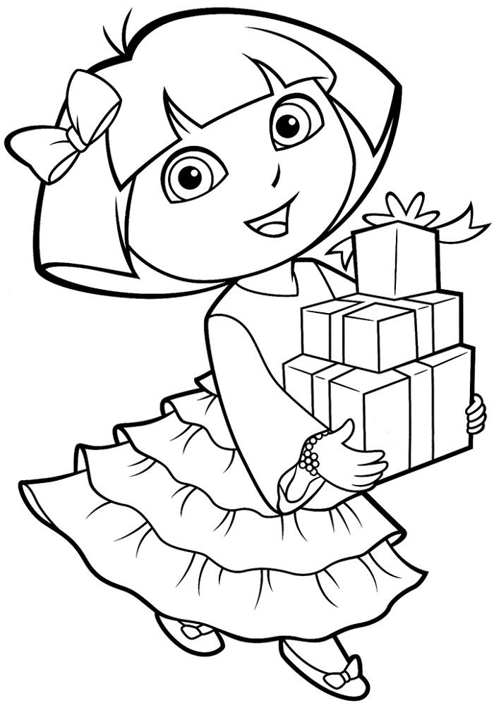Free Coloring Pages to Print Out Dora coloring