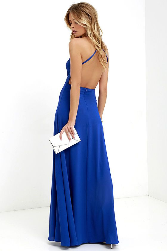 1be61a23a5e06 Pleasantly Surprised Royal Blue Backless Maxi Dress | bridesmaid ...
