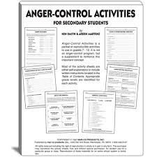 Anger management group exercises for adults