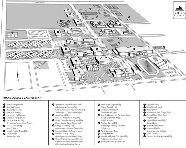 Brigham Young University Idaho - Google Search   Campus map ...