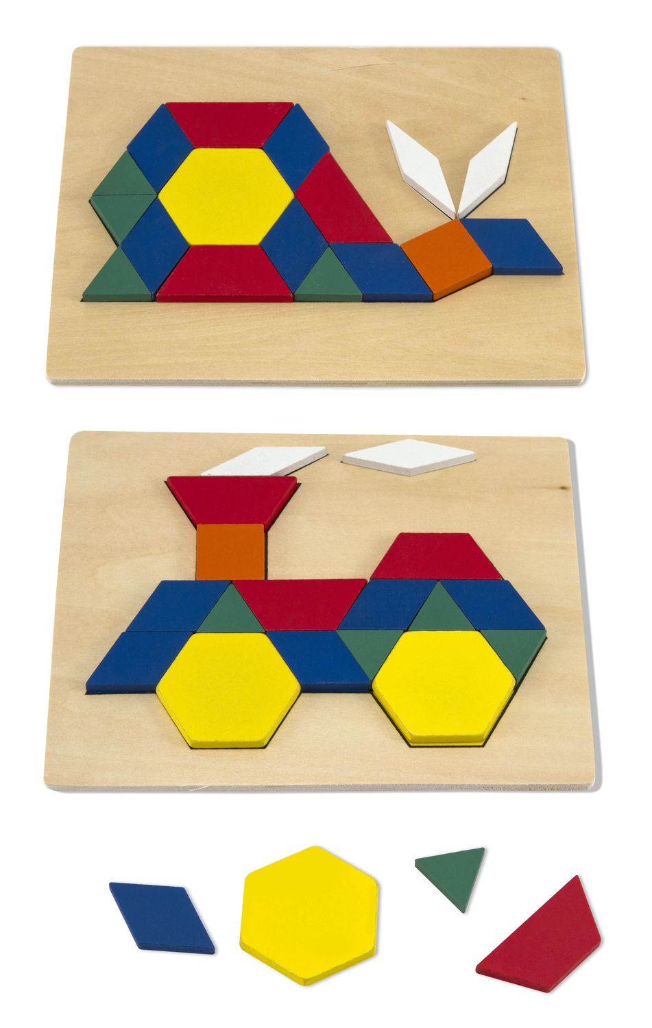 Wooden Pattern Blocks And Boards Classic Toy Melissa Doug