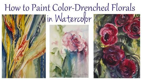 Angela Fehr Watercolor Classes How To Paint Color Drenched