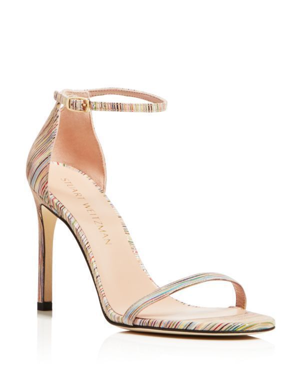 Stuart Weitzman High Heel Crossover Sandals free shipping cheap with mastercard for sale cheap sale original original for sale 8BkDnCKPtY