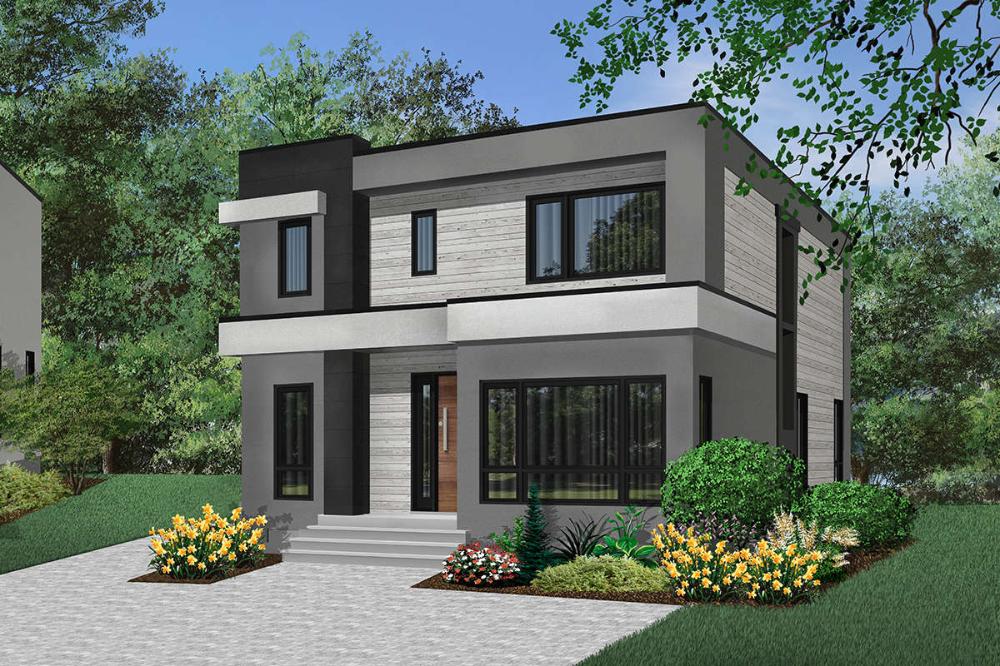 House Plan 034 01194 Modern Plan 2 063 Square Feet 3 Bedrooms 2 5 Bathrooms House Designs Exterior Modern House Design Modern House Plan