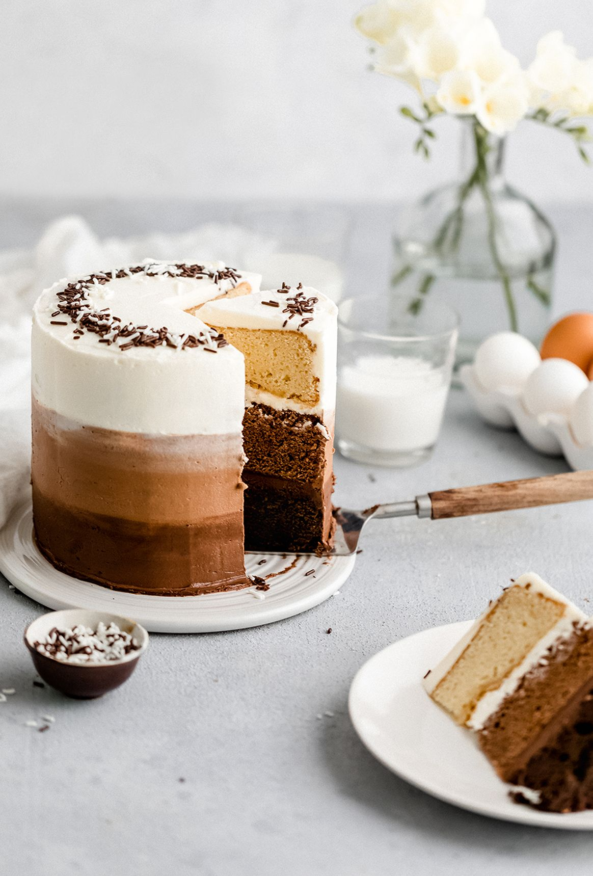 Recipe Ombre Cake