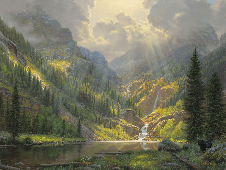 Rocky Mountain Majesty By Mark Keathley Waterfall Lake