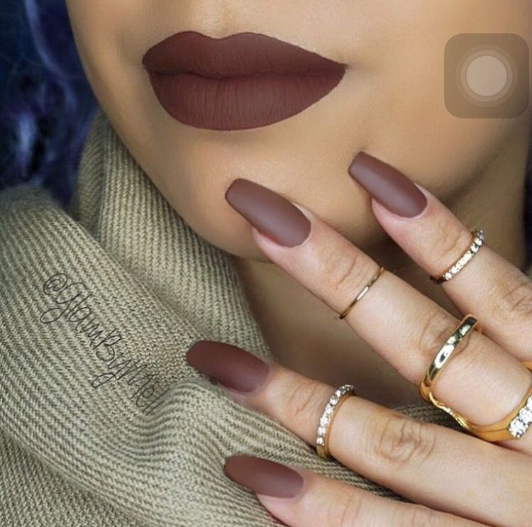 Love This Brown Nails Brown Nails Design Matte Nail Colors Brown Nails