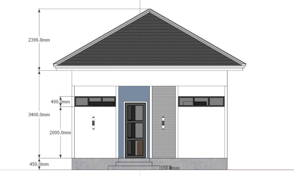 Studio House Plans 6x8 Hip Roof Tiny House Plans House Plans Tiny House Plans House Roof