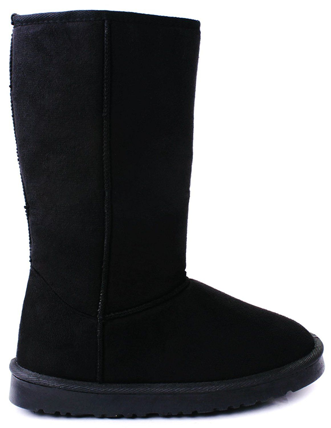 7c0c71ff2 House Faux Suede Fur Lined Mid Calf Shearling Winter Snow Boots -- Check  out the image by visiting the link.