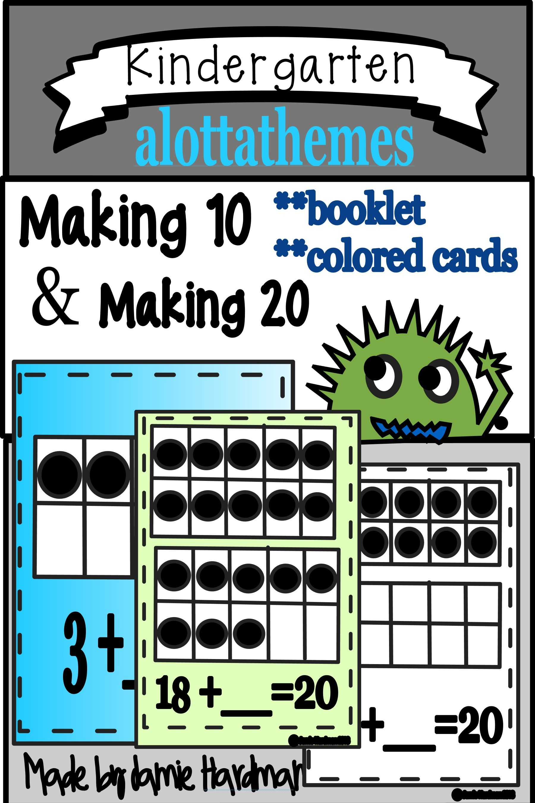 Making 10 Making 20 Ten Frame Low Prep Printables