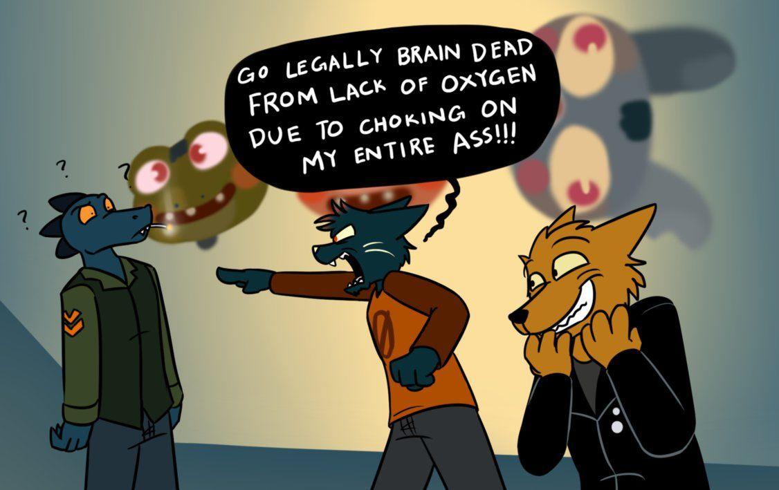 Legally Brain Dead By Wolfscar2810 Night In The Wood Furry Art