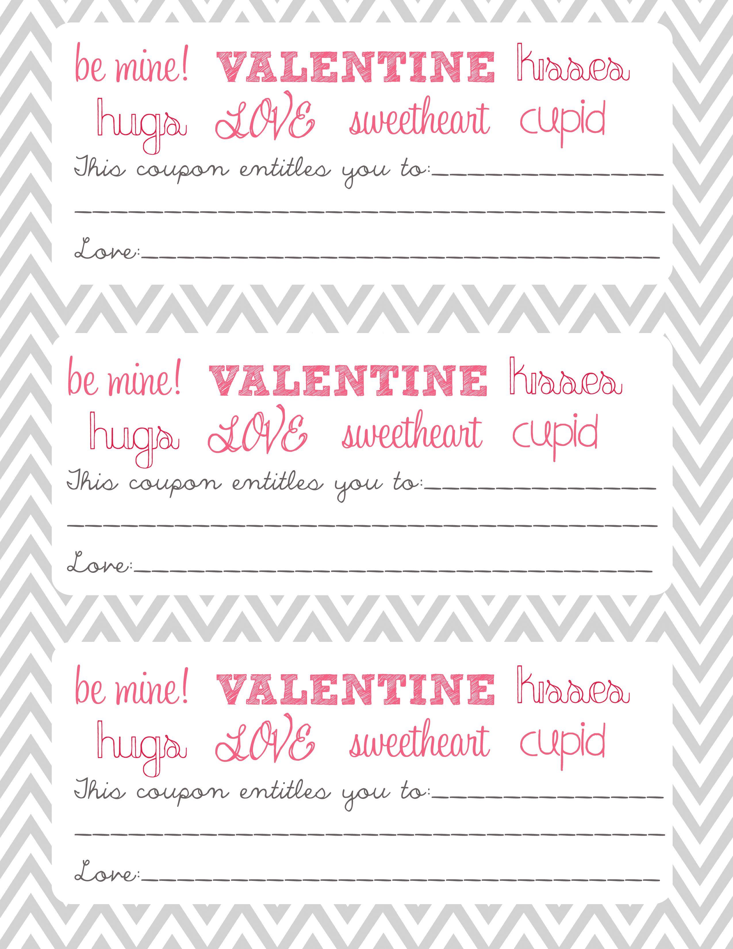 Imprimibles Vales Cupones De Amor Para San Valentin Recopilacion