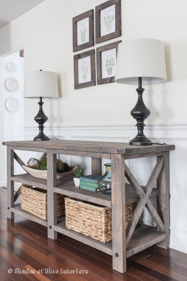 Best 25 rustic media console ideas on pinterest tv Table entree design