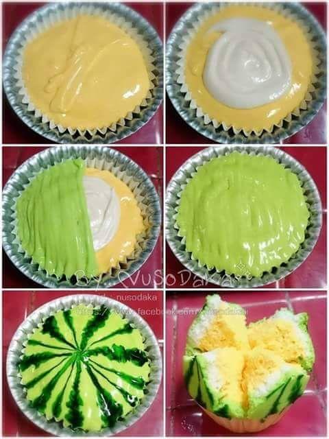 Bolu Kukus Semangka : kukus, semangka, 7-a-cara-membentuk-bolu-mekar-supaya-mirip-semangka, Resep,, Makanan,, Makanan, Manis
