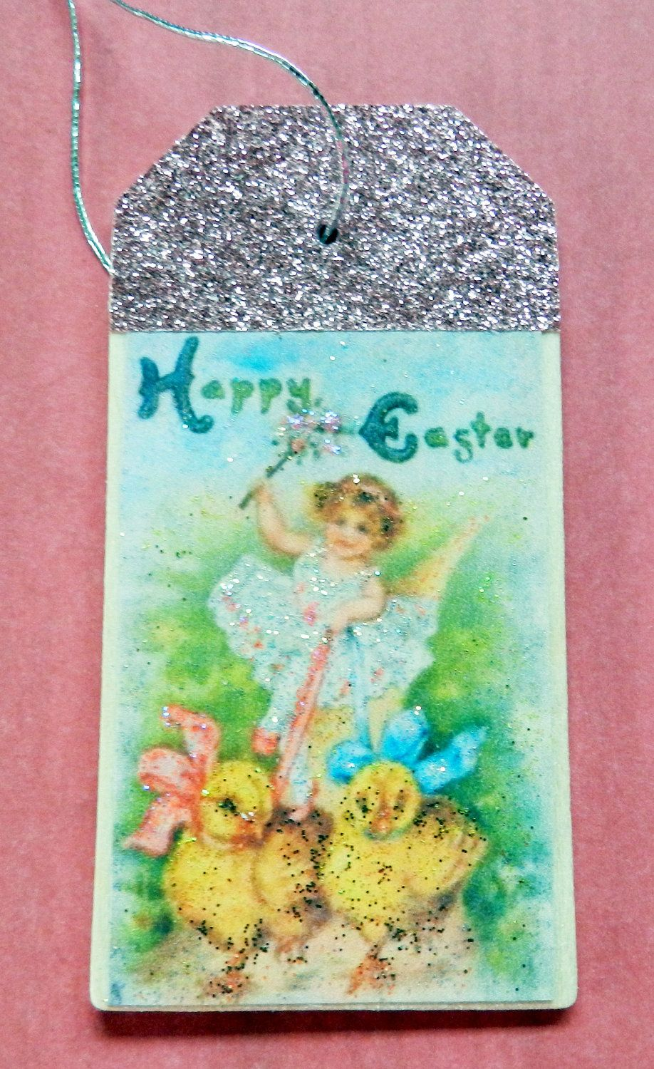 Vintage easter fairy chicks gift tag easter tree ornament easter vintage easter fairy chicks gift tag easter tree ornament easter gift easter negle Images