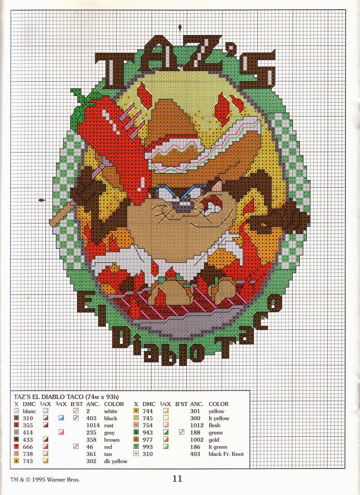 Pin Van Marijke Claeys Op Crafts Looney Tunes Beaded Cross Stitch