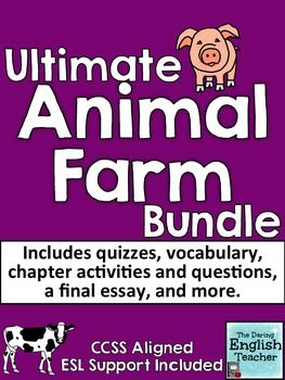 Ultimate Animal Farm Teaching Bundle With Esl Differentiation Farm Unit Farm Animals Farm Activities