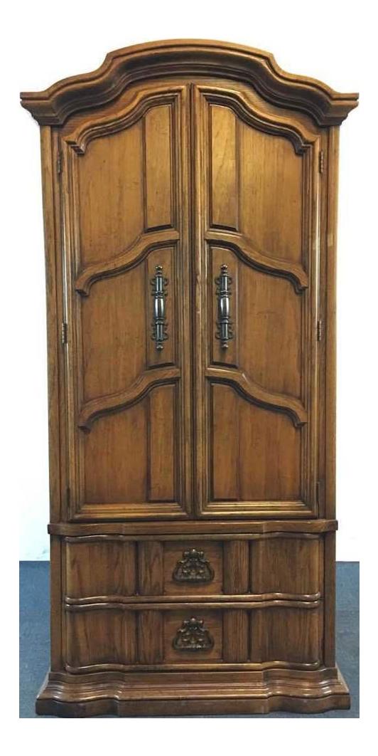 Superbe Burlington House Furniture Carved Wood Armoire