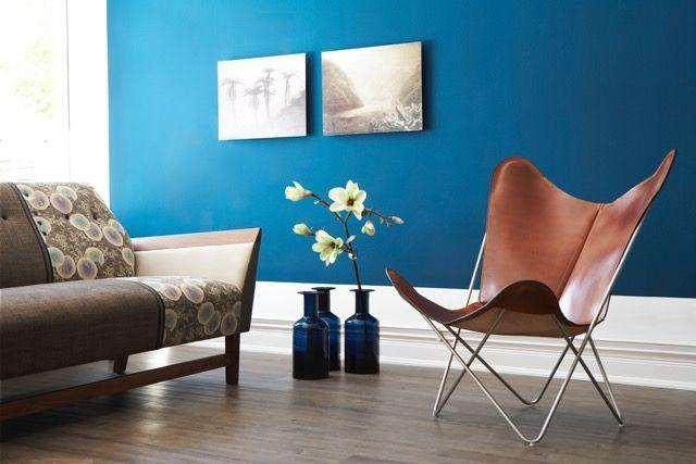 Moderniser Le Salon Avec Du Bleu Ardoise Couleur Salon