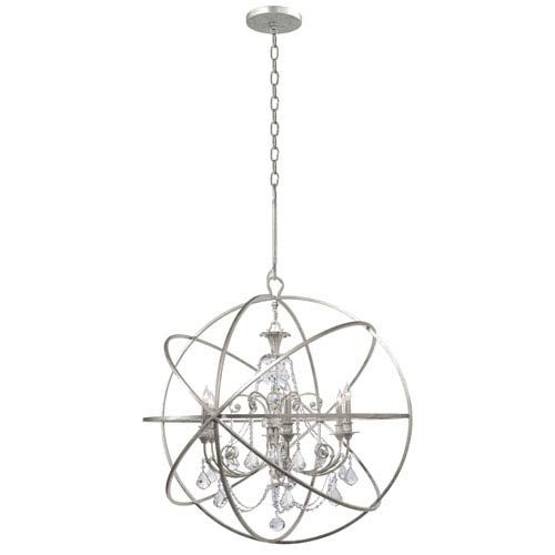 Crystorama lighting group solaris six light olde silver chandelier solaris six light olde silver chandelier mozeypictures Image collections