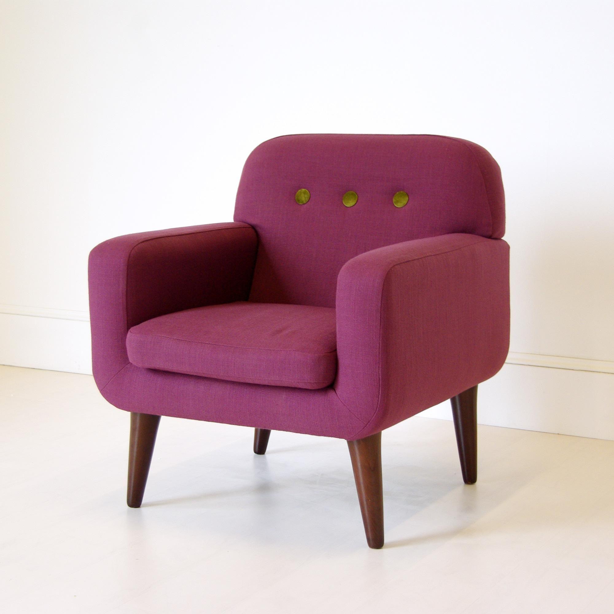 Charmant Purple · Contemporary Purple Armchair