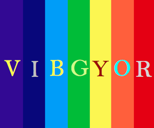 Vibgyor Rainbow Color Codes With Images Color Coding Rainbow