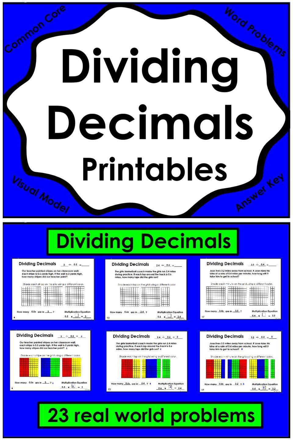 dividing decimals word problems   math lessons and posters   math