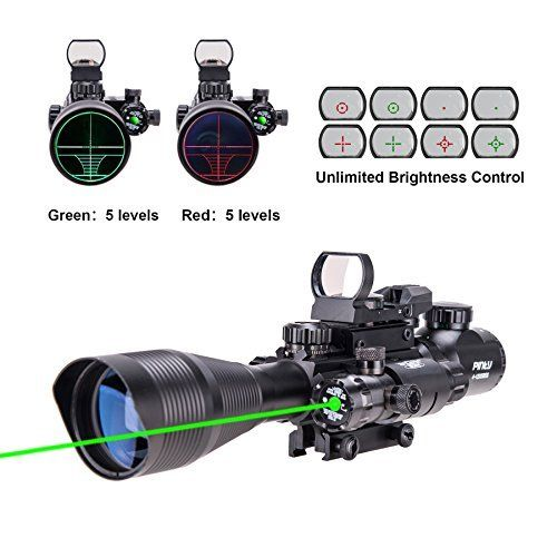 Trinity Force 3 9x42 Tactical Rifle Scope With Illuminated P4