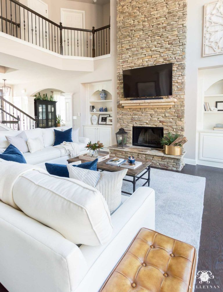 Open Concept Family Room Casual, Comfortable Living Room