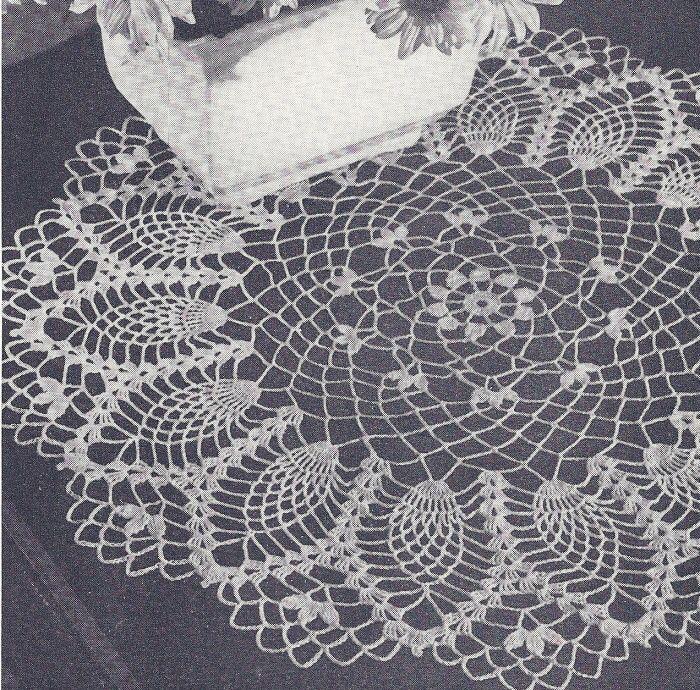 Free Crochet Pineapple Doily Patterns Memes Croche Pinterest