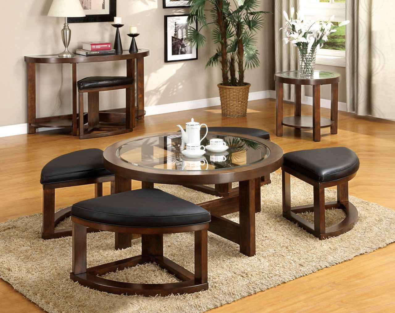End Table Cm4321re Round Wooden Coffee Table Coffee Table Coffee Table With Seating [ 1016 x 1280 Pixel ]