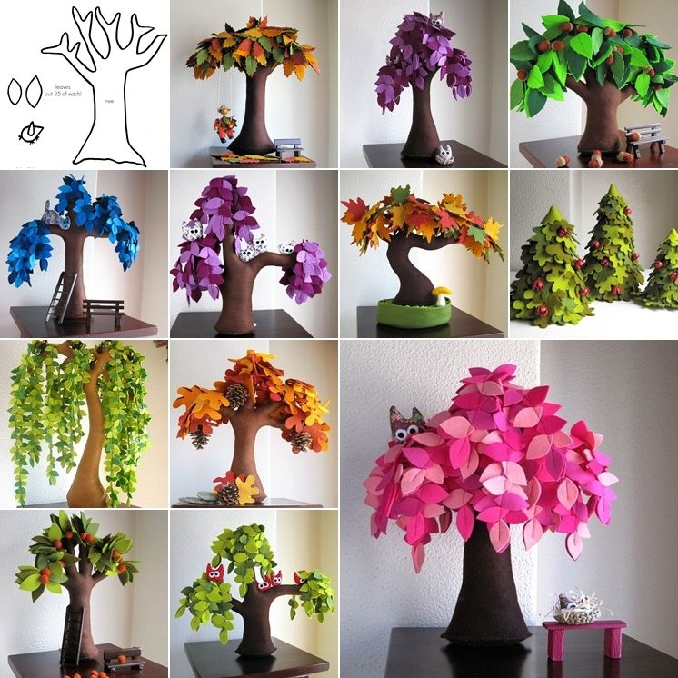 Make These Beautiful Felt Trees For Your Home Ideas For The House