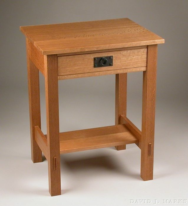 104 Arts And Crafts Inspired Nightstand Plan David J Marks Diy Furniture Plans Woodworking Nightstand Nightstand Plans