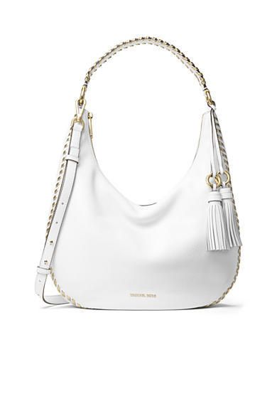 ae44c1c077cac8 Michael Kors Lauryn Optic White Pebble Leather Large Zip Closure Shoulder  Bag #Doris_Daily_Deals #Bonanza www.bonanza.com/listings/457665004