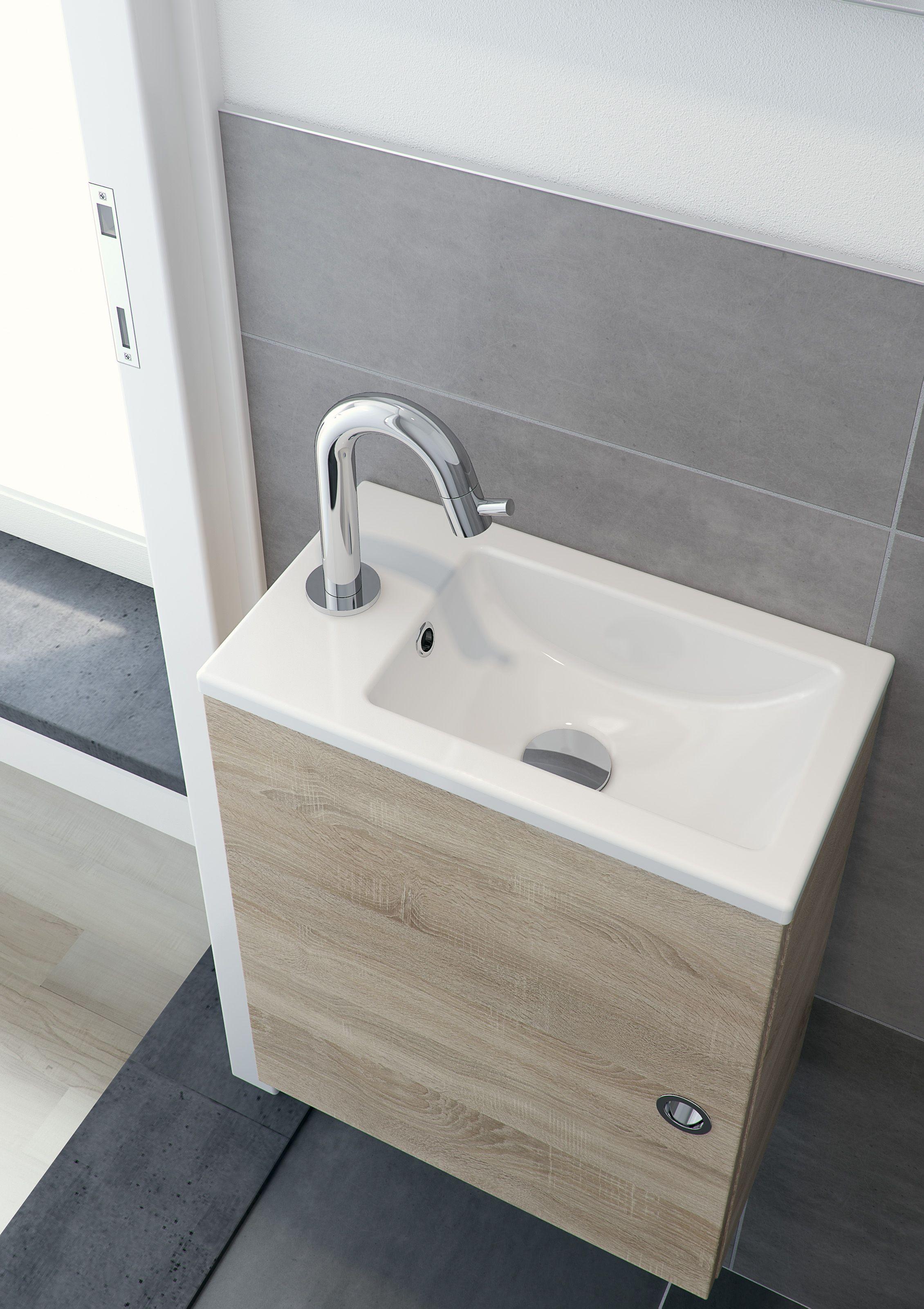 Bruynzeel Pocco fonteinmeubel 40 cm bardolino // badmeubel badkamer sanitair / bathroom furniture cabinet cloakroom washbasin / meuble salle de bain lave-mains