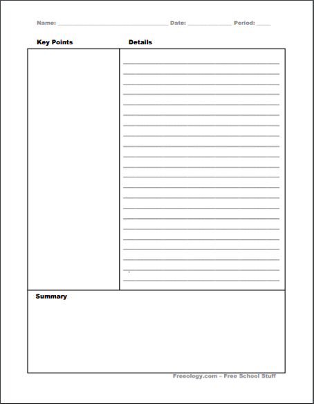 14 Free Cornell Notes Templates Examples And Printable Pdf Sheets Getting Back Into The Classroom 14 Cornell Notes Template Cornell Notes Notes Template