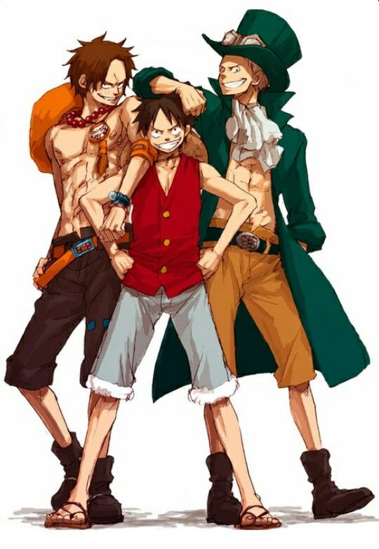 Tres Hermanos One Piece Pinterest One Piece Manga And Ace