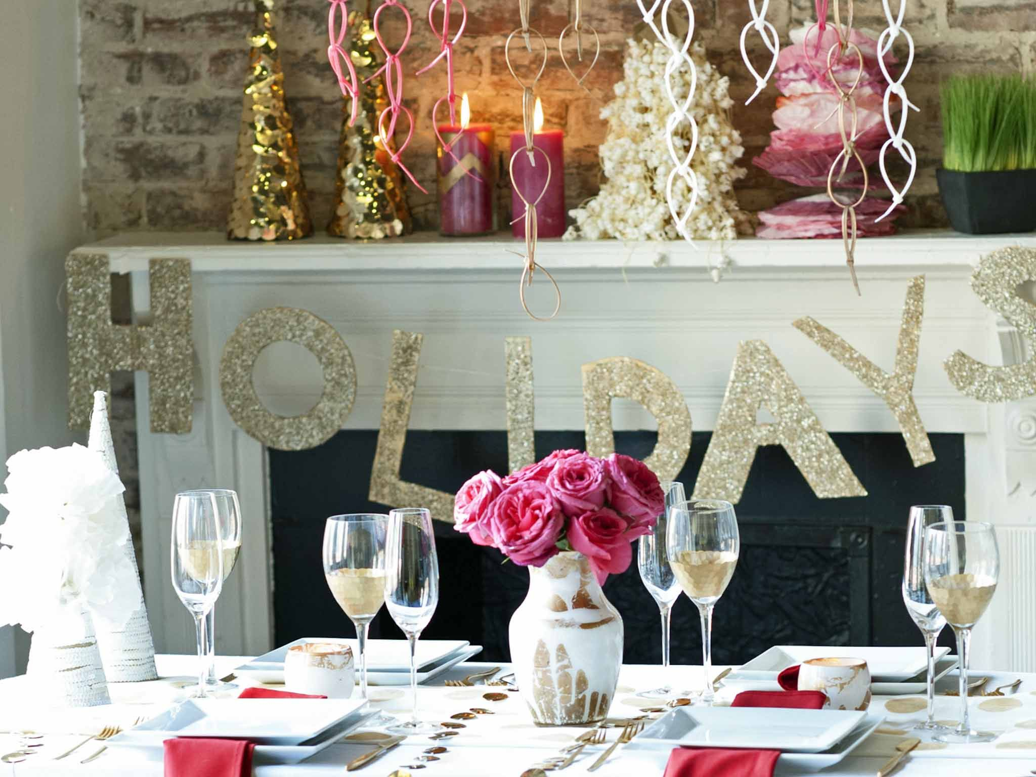 christmas party table centerpiece ideas Google Search
