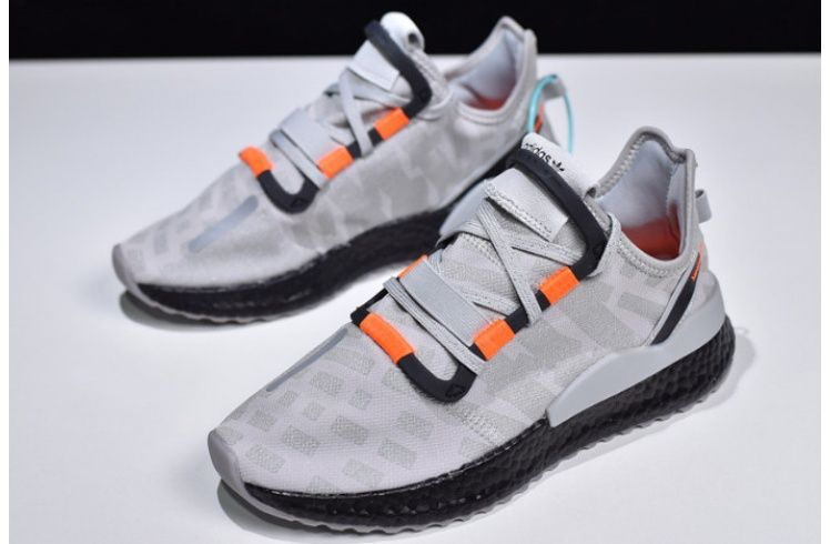 Mens Adidas Nite Jogger Boost Grey Black Orange | Adidas men