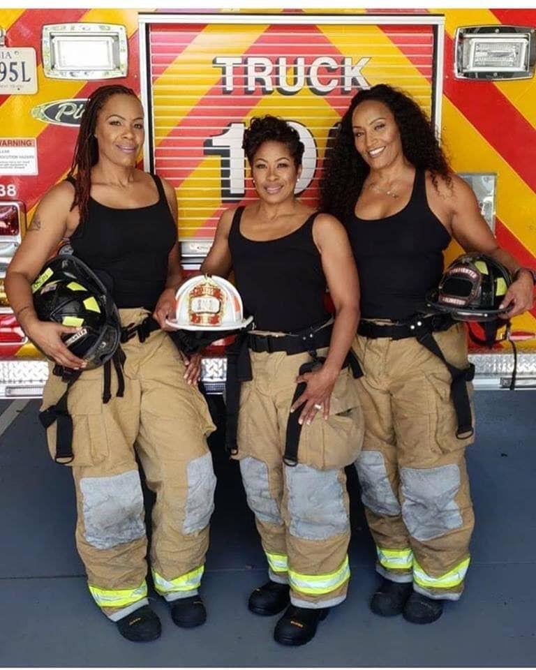 Amazing Black Women Female firefighter, Girl firefighter