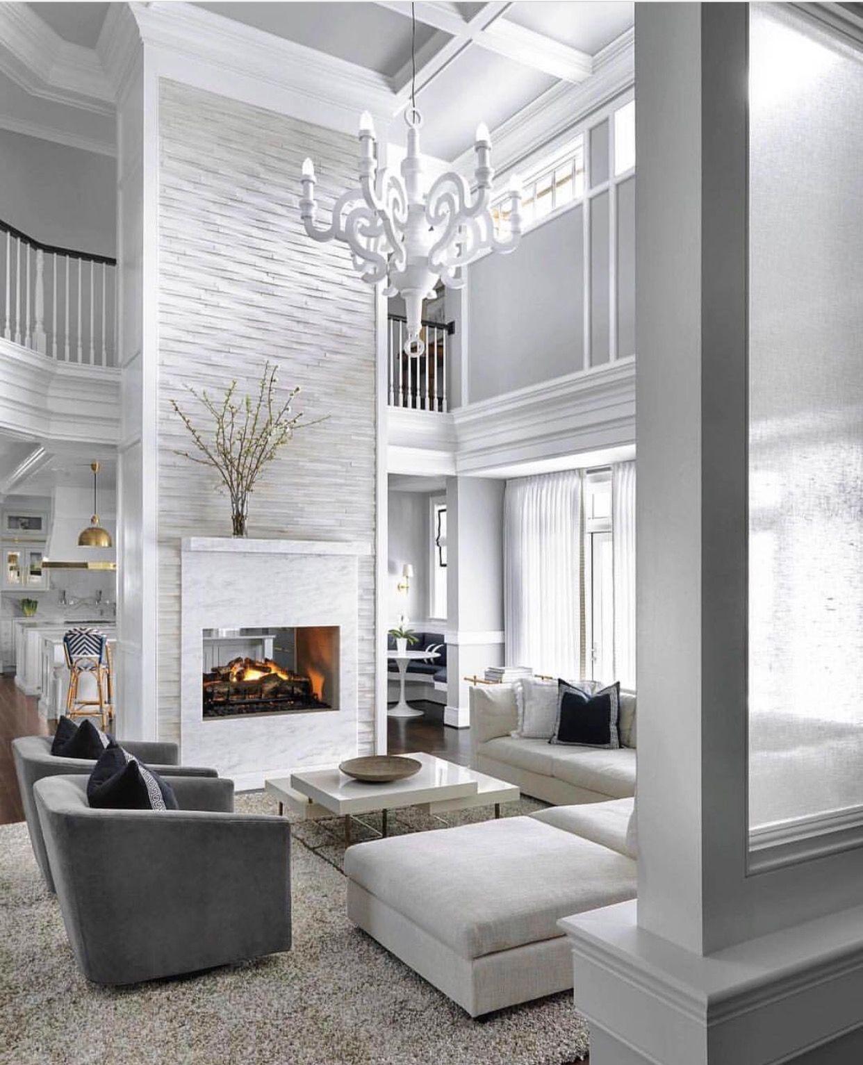 2 Way Fireplace Separating Kitchen Living Room White Li