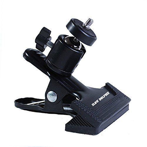 Slow Dolphin Professional Tripod Camera Clip Clamp Flash Reflector Holder Mount for Studio Backdrop Camera(Black)