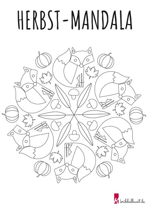 herbst mandala  mandala zum ausdrucken mandala vorlagen