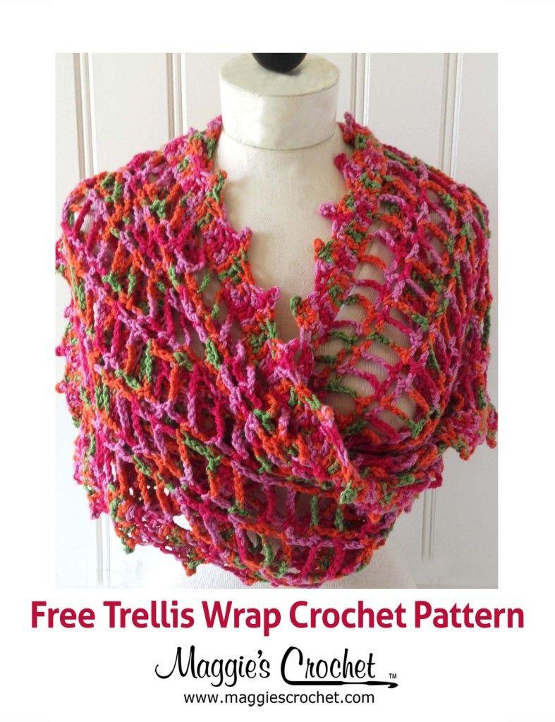 Trellis Wrap Free Crochet Pattern | Crochet | Pinterest | Patrones ...